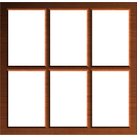 Rustic Country Window Frame or Border 002 A