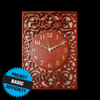 Fretwork Clock