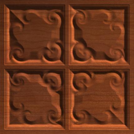 Classical Romantic Heart Tile Panel 004 A