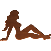 Classic American Truckers' Lady Silhouette 004 A