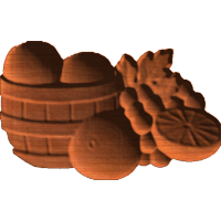 Orange Fruit Basket