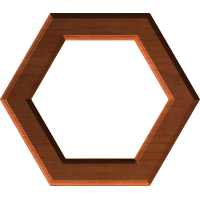 Routed Hexagonal Frame or Border 009  A
