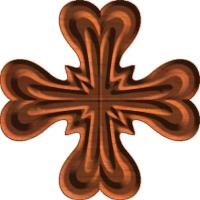 Rosette 1402 A Heart Cross