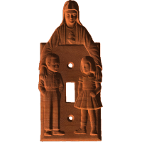St Mary Light Switch Plate