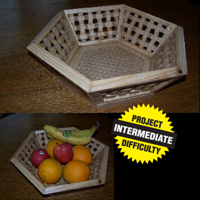 Basket Weave Fruit Basket