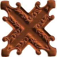 X Shaped Rosette