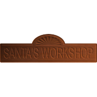 Christmas Santa's Workshop Sign