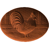 Rooster on Oval