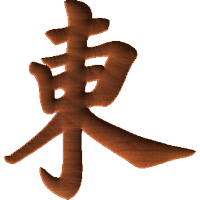 Chinese Oriental Calligraphy The Word East
