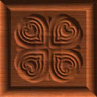 Cornerpiece of Four Hearts