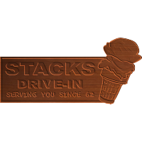 Stacks Ice Cream Sign 002 - CSF