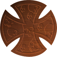 Maltese Cross w Skulls - CSF