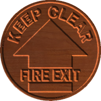 Fire Exit Keep Clear - CSF