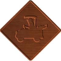 Golf Cart Sign 002 - CSf