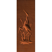 Egret Pair Plaque - AB - 001