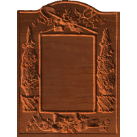 Frame with Rose Motiff