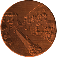 Venice Canal Scene On Concave Disc - AB - 001