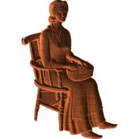 Colonial Woman Sitting - AB - 001