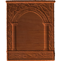 Plaque - Roman Columns And Vines - AB - 001