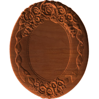 Plaque - Oval - Roses Bells And Ribbons - AB - 001