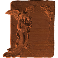 Plaque - Angel With Baby - AB - 005A