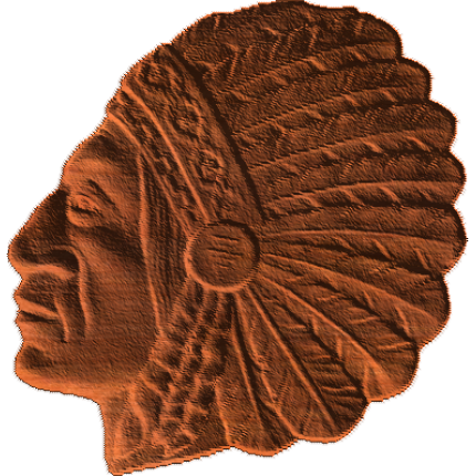 American Indian Warrior Chief - AB - 002