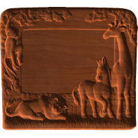 Plaque - Zoo Animals From Africa - AB - 001