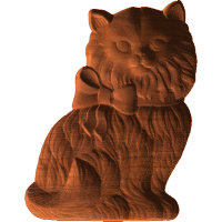 Cat With Bow - AB - 006