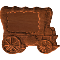 Plaque - Covered Wagon - AB - 001