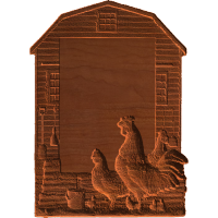 Plaque - Barnyard Fowl - AB - 001