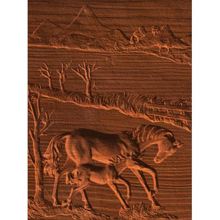 Horse and Colt Scene - No Edge Rise