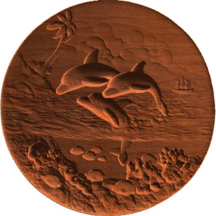 Dolphin Scene - Disc - AB - 001