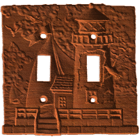 Lighthouse - Double Switch Plate - AB - 001
