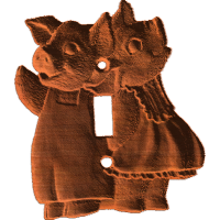 Pig Pair Switch Plate - AB - 001