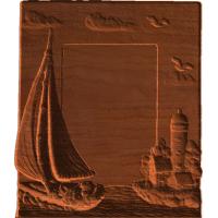 Plaque - Sailing Motiff - AB - 001