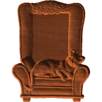 Frame - Cat In Chair - AB - 001
