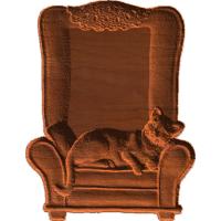 Plaque - Cat In Chair - AB - 001