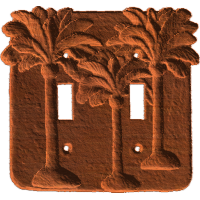 Dual Switch Cover - Palm Trees - AB - 001