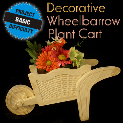 Wheelbarrow Decorative Plant Cart
