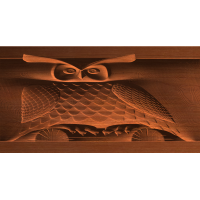 Rotary Owl on a Log