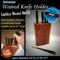 Weaved Kitchen Knife Holder