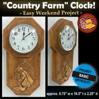 Country Farm Clock