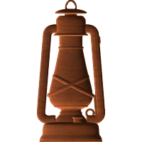 old style oil lamp