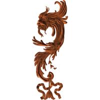 Baroque style dragon
