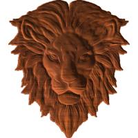 Lion head bust