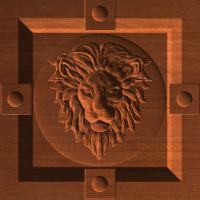 Lion Face Corner Block