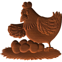 Chicken With Eggs Pattern