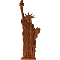 Statue Of Liberty Carving Pattern