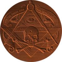 Free Mason Skull and Compass