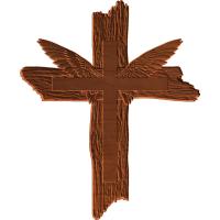 Winged Old Wood Cross